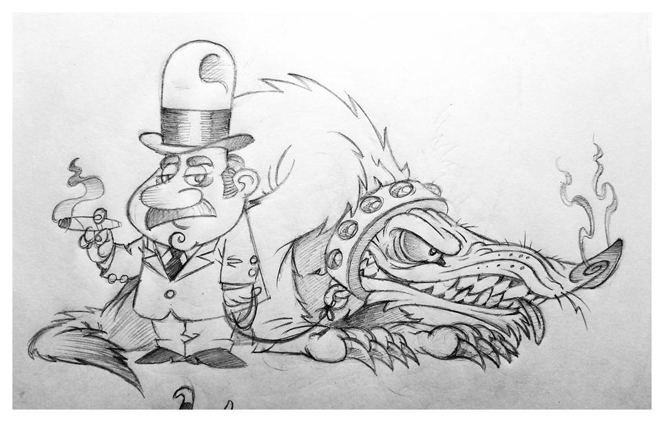 Little Man Big Monster sketch