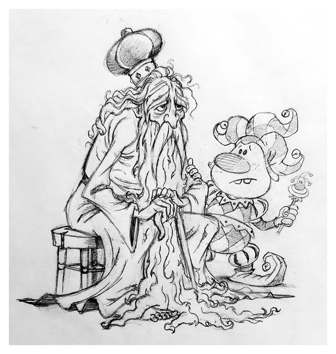 The Old King and the Fool sketch