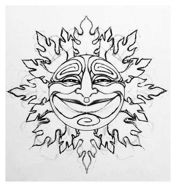 Sun design sketch