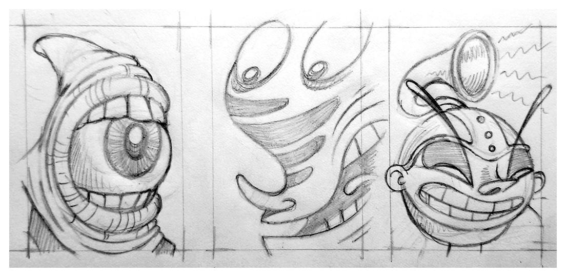Three tiny sketches
