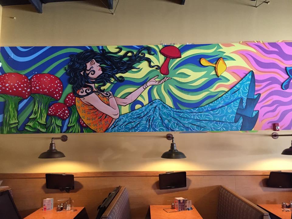 Mellow Mushroom Covington, LA mural